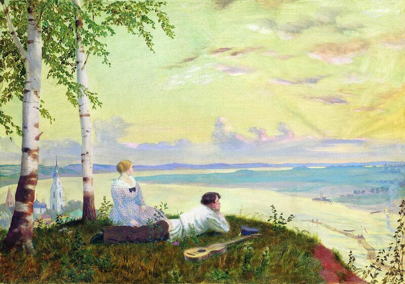Борис Кустодиев .На Волге