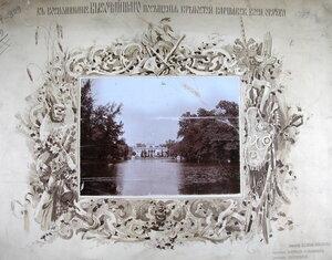 Общий вид Лазенковского дворца со стороны пруда.