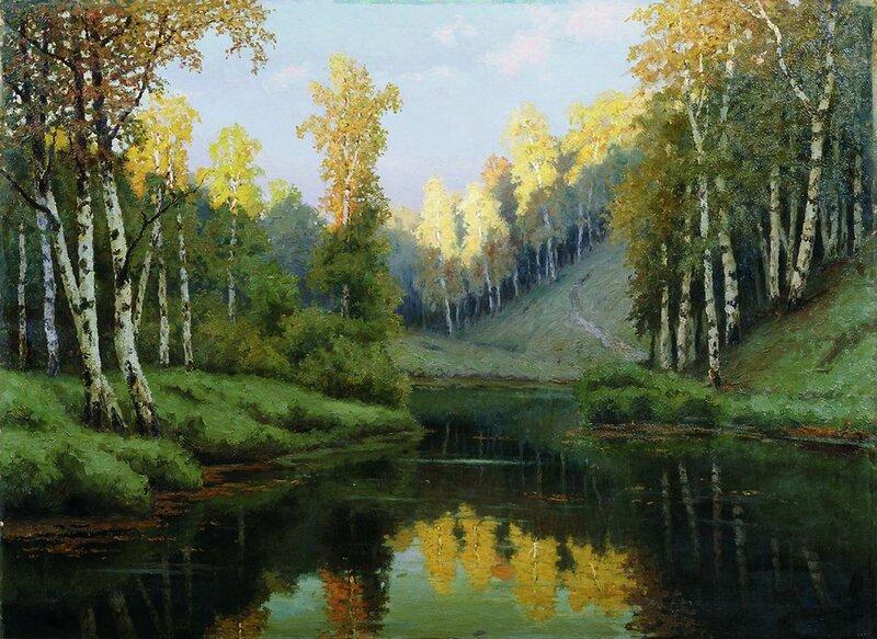 Ефим Ефимович Волков. Лесное озеро. 1910.