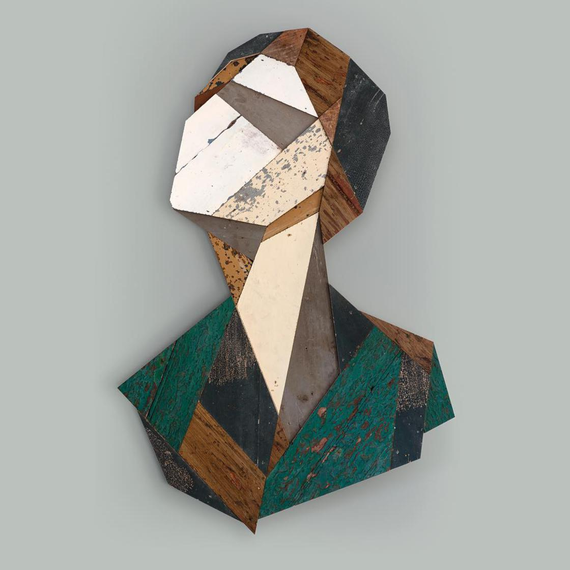 Strook – This street artist recycles wood into geometric portraits