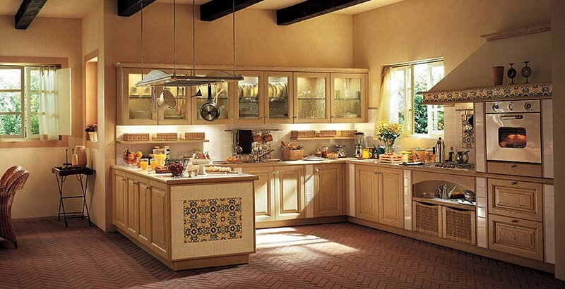 Фотогалерея мебели для кухни в стиле кантри.