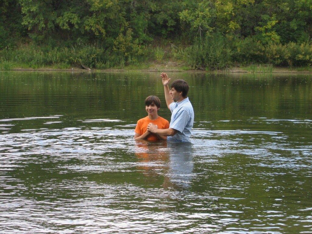 Крещение Артема Комарова