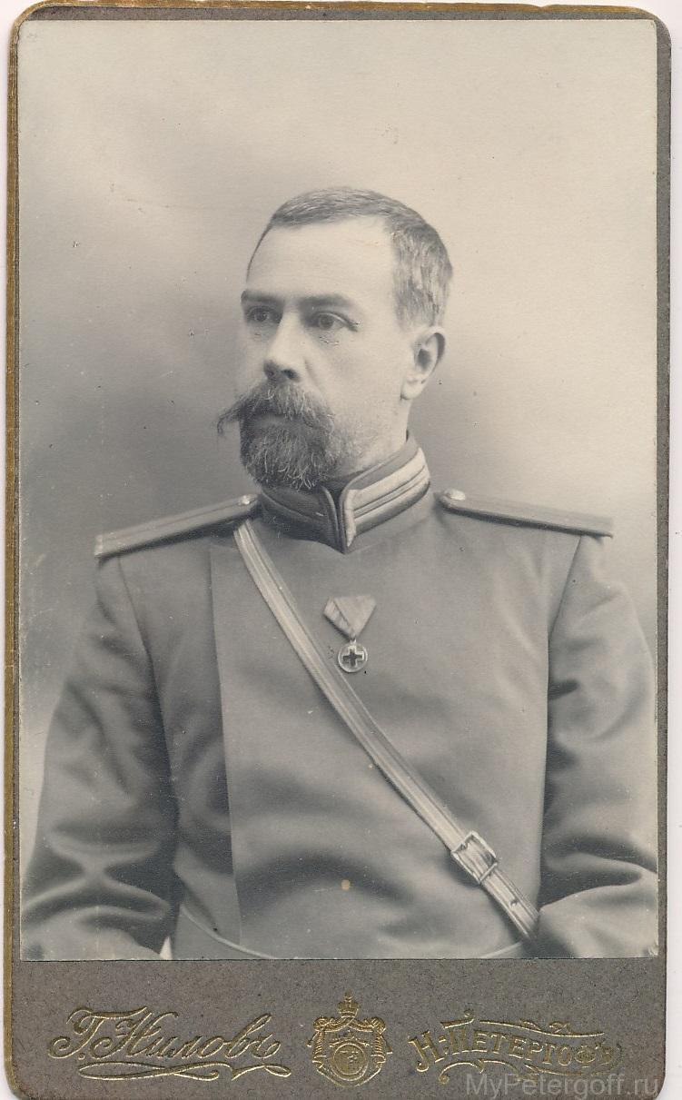Панафидин Александр Николаевич в форме полицейского Петергофского уезда