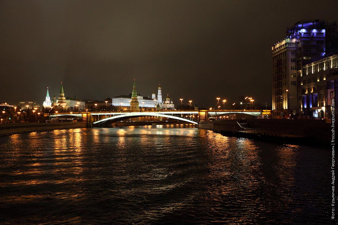 ночное фото Большой Каменный мост