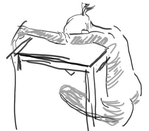 У стола