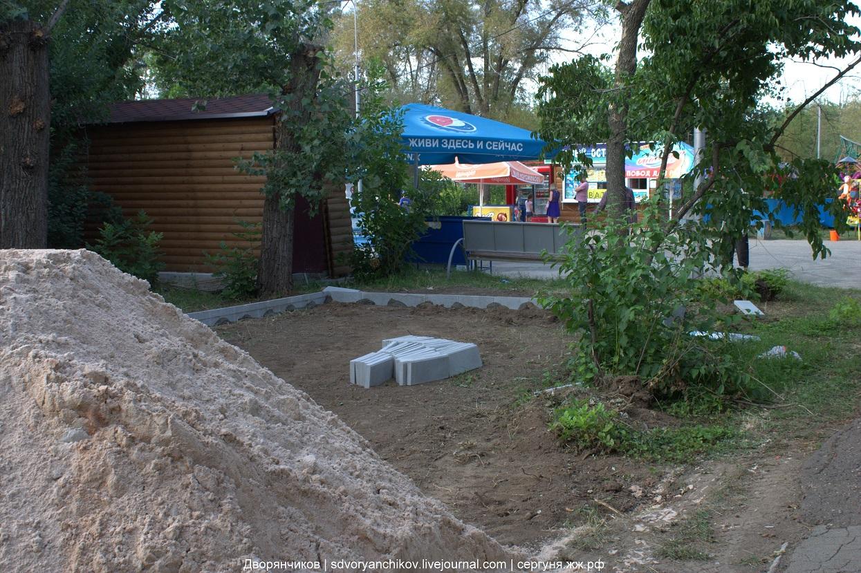 Волжский - парк ВГС - детская площадка на северной части парка