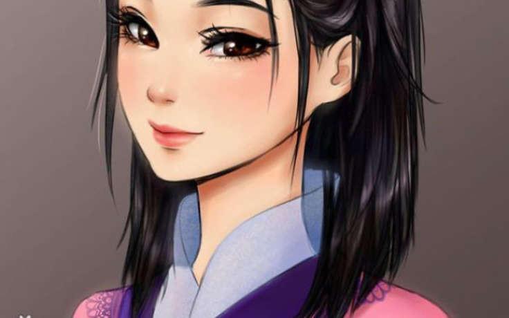 Девушка рисует персонажи Диснея в стиле аниме (15 фото)