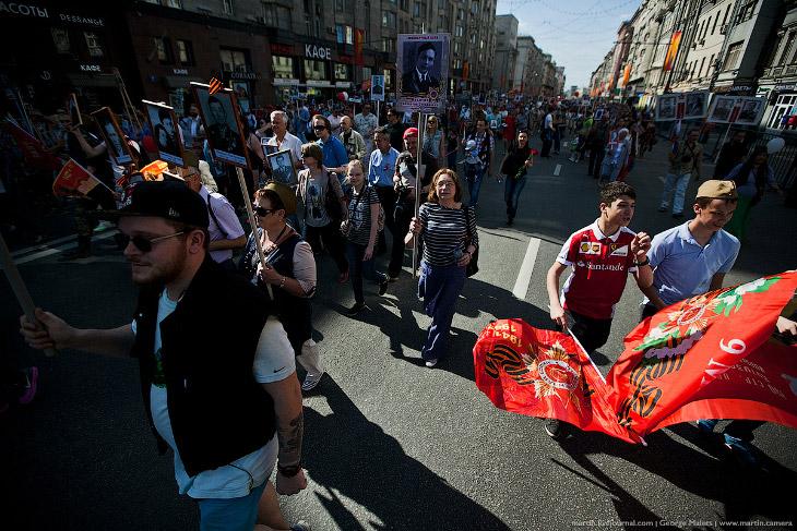 Бессмертный полк в Москве (26 фото)