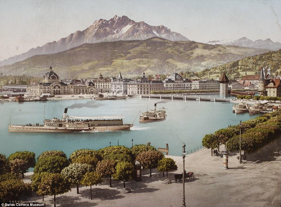 Люцерн, Швейцария, между 1889 и 1902.