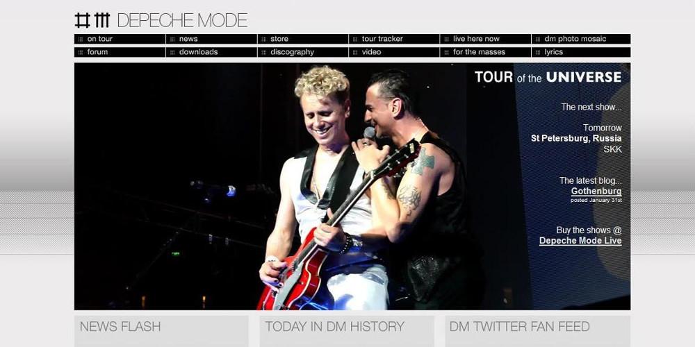 Depeche Mode два раза выступит вПетербурге врамках мирового тура