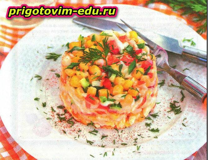 Крабовый салатик «Для дочки»