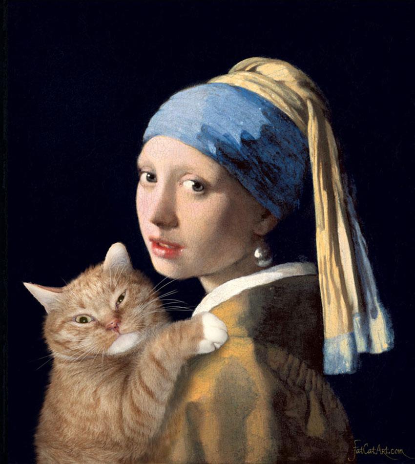 Ян Вермеер, Девушка с жемчужной сережкой и рыжим котом