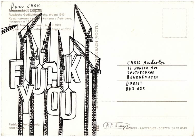 Hate Mail - An artist sends stylized insults your friends (or enemies)
