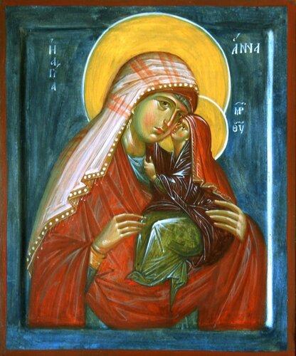 Αποτέλεσμα εικόνας για Святая Праведная Анна, мать Пресвятой Богородицы. Фреска