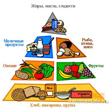 Пирамида питания. Придерживаемся здорового образа жизни