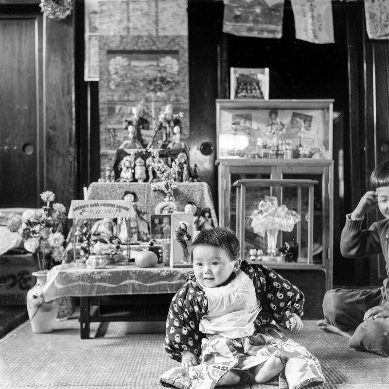 Child and Dolls - 1950s Japan