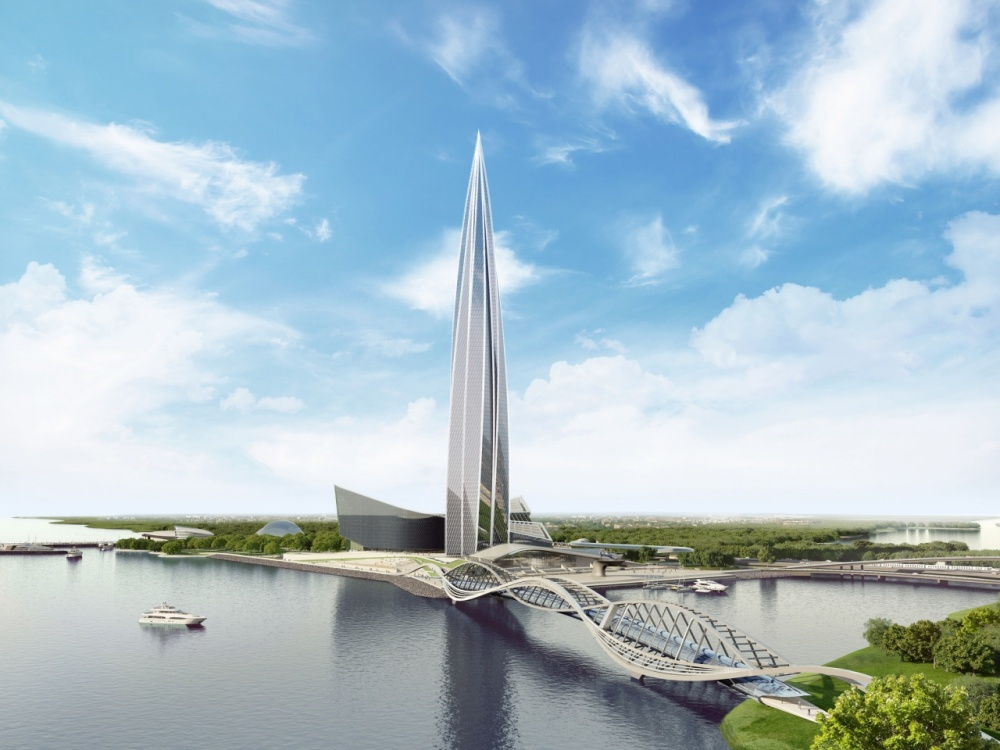 Этот 87-этажный небоскреб наберегу Финского залива станет официальной штаб-квартирой «Газпром нефти