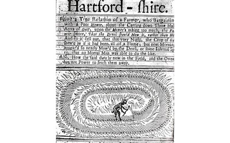 Самое раннее упоминание о кругах на полях относится к загадочной истории, приключившейся в 1678 году