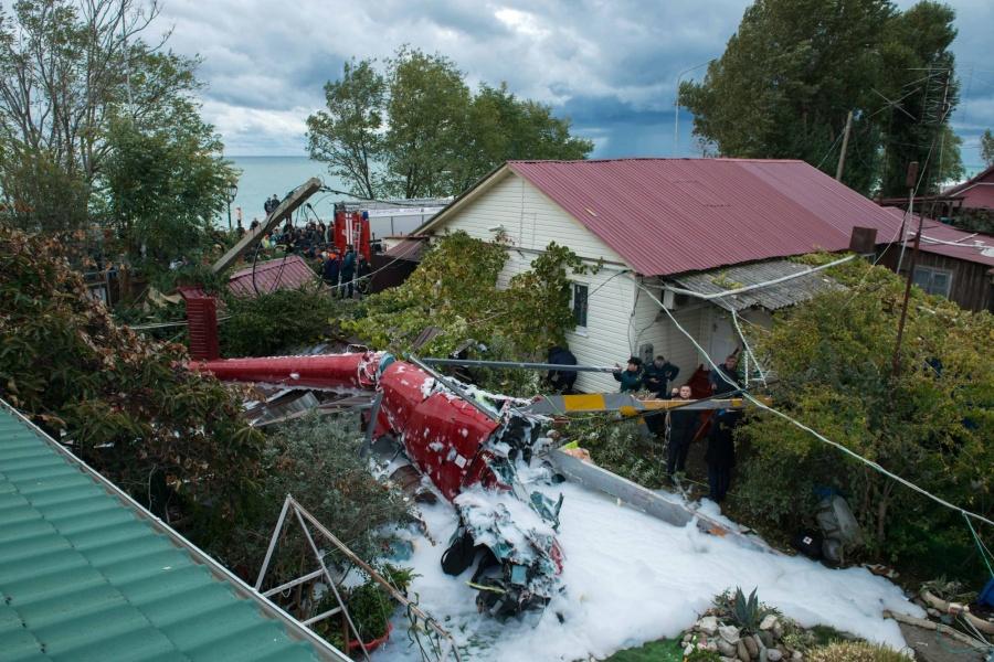 Вглобальной web-сети появилось видео крушения вертолета вСочи