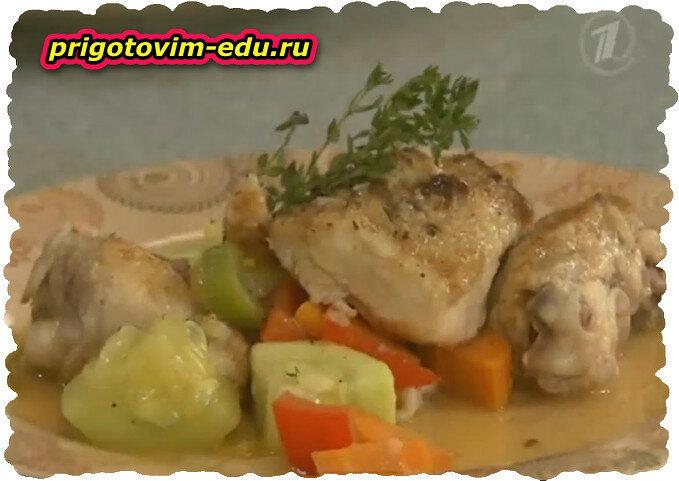 Как приготовить Курицу с овощами.