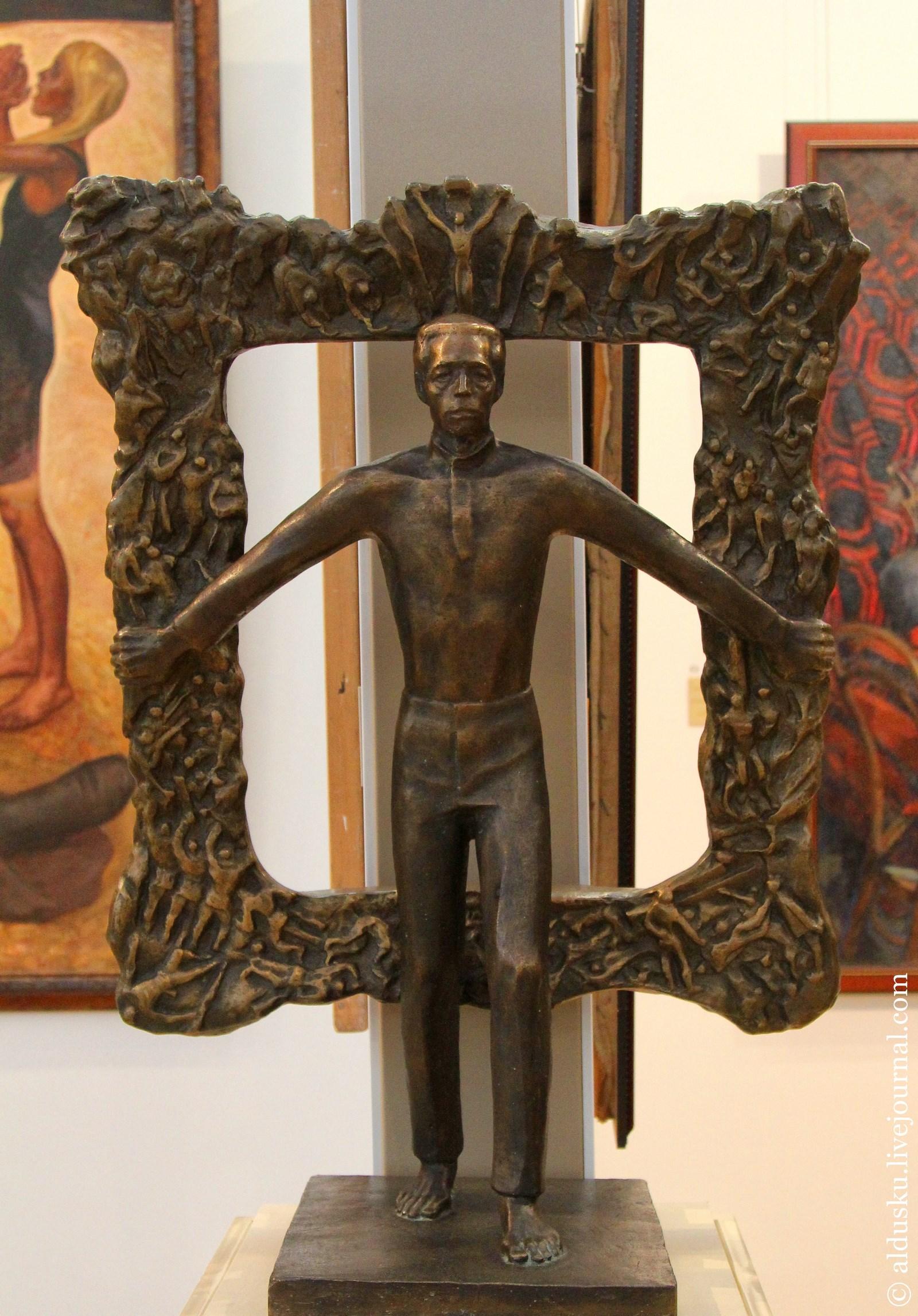 Гумилевский Л.Н. (1930–) Портрет М.А. Савицкого. 1983. Бронза