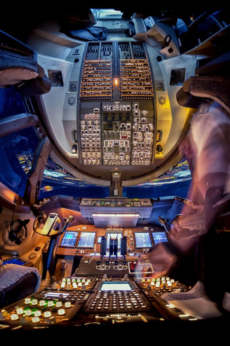 Вид из кабины пилотов