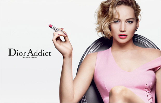 Dior enlists American actress Jennifer Lawrence to star in the campaign for their new lipstick Dior