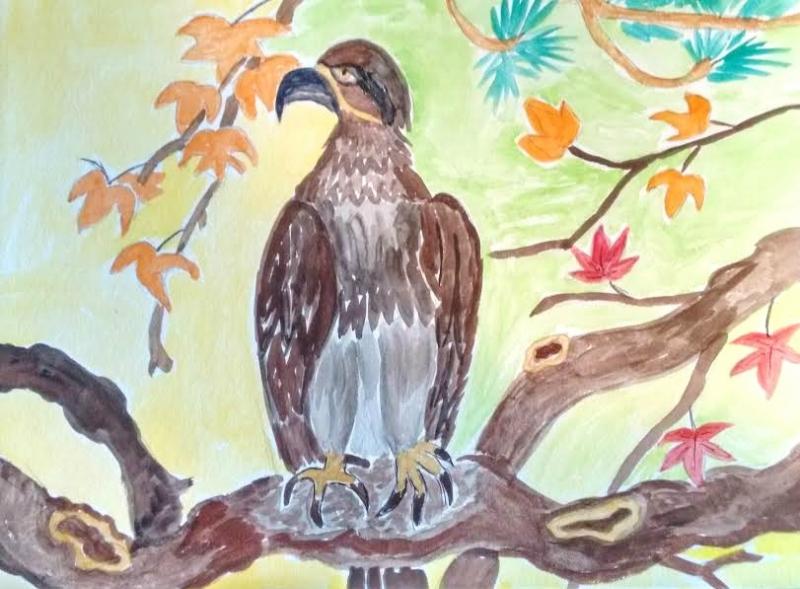 Отдыхающий  орел