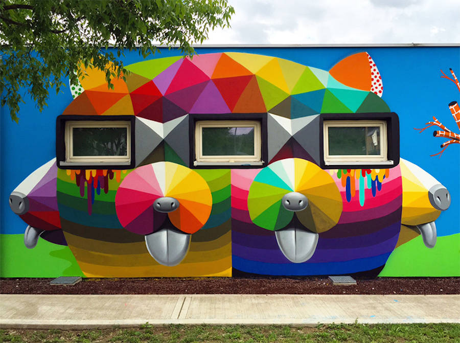 Impressive Murals on a Kindergarten in Italy