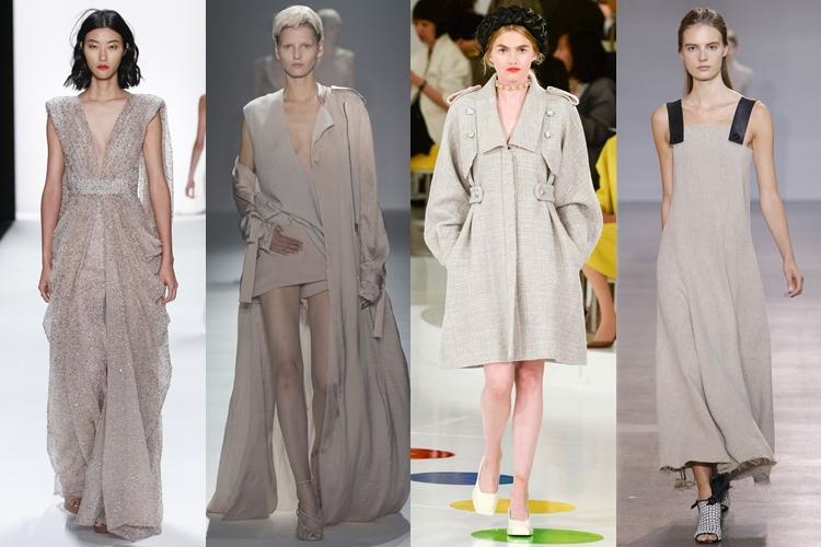 модные цвета весна лето 2016 - серо-бежевый