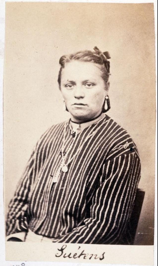 Леонтине Суетен, приговорена к каторге
