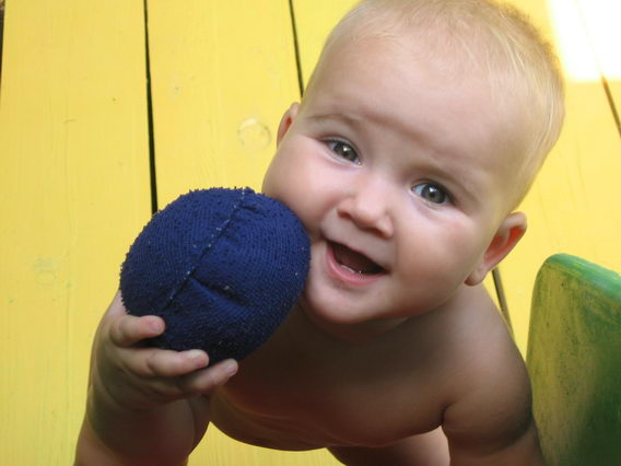 Моя дочка Санька в 6 месяцев