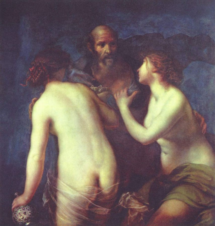 Furini, Francesco,  Лот и его дочери. около1640 г.