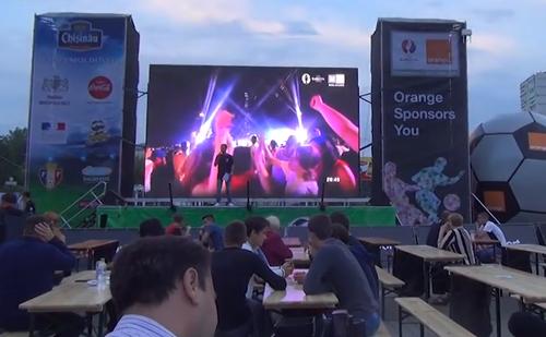 В Бельцах состоялось открытие футбольного городка