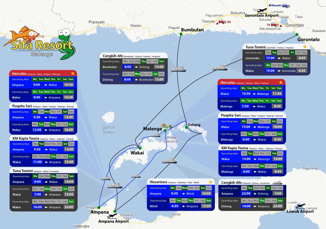 Расписание лодок