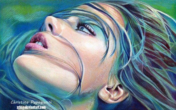Кристина Папагианни— Акварельные и карандашные портреты