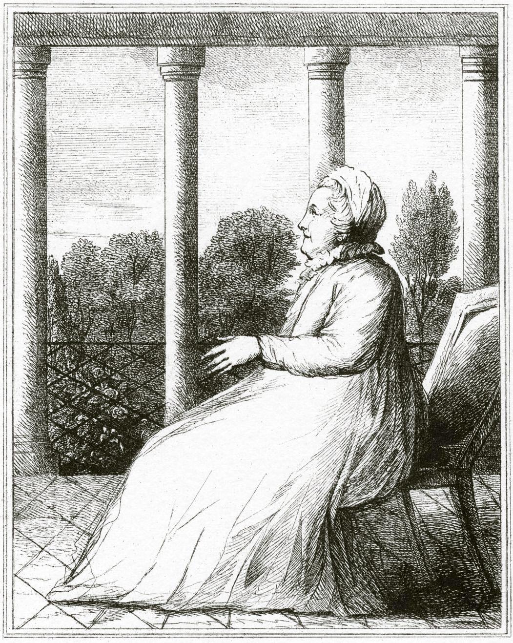 111. Екатерина II, сидящая в Царскосельской Камероновской Галерее