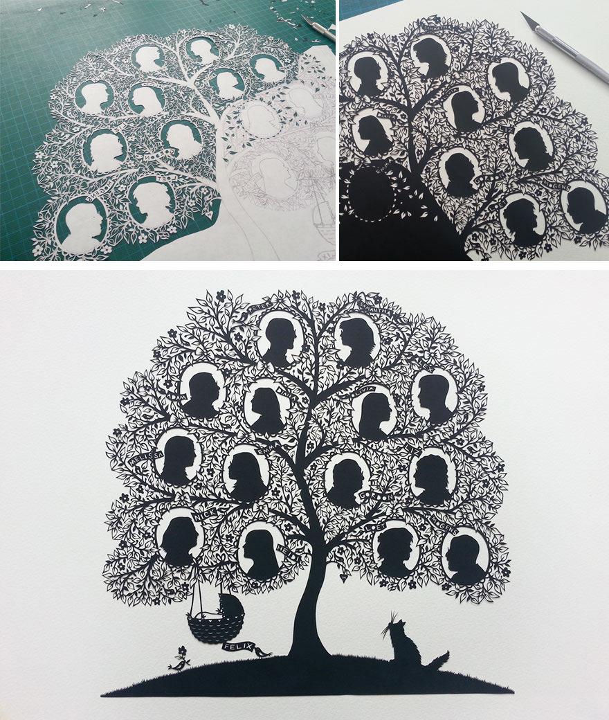 Painstaking Folk Art Papercuts by Suzy Taylor