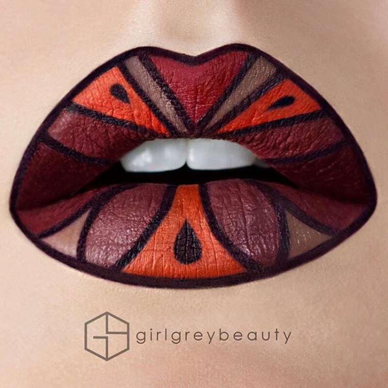 Lip Art Makeup - The amazing creative lips by Girl Grey Beauty