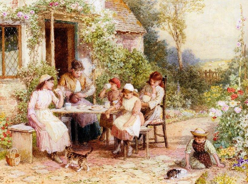 +++%09 Myles Birket Foster, R.W.S. (1825-1899)   tea_time-large.jpg