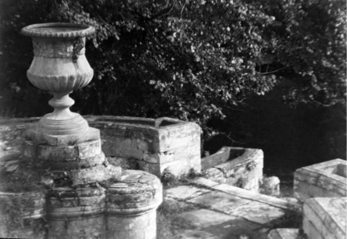 Усадьба «Кучино». Каменная лестница с вазоном