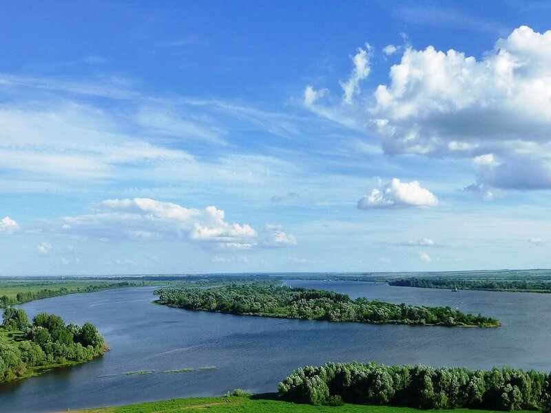Река Кама в Елабуге
