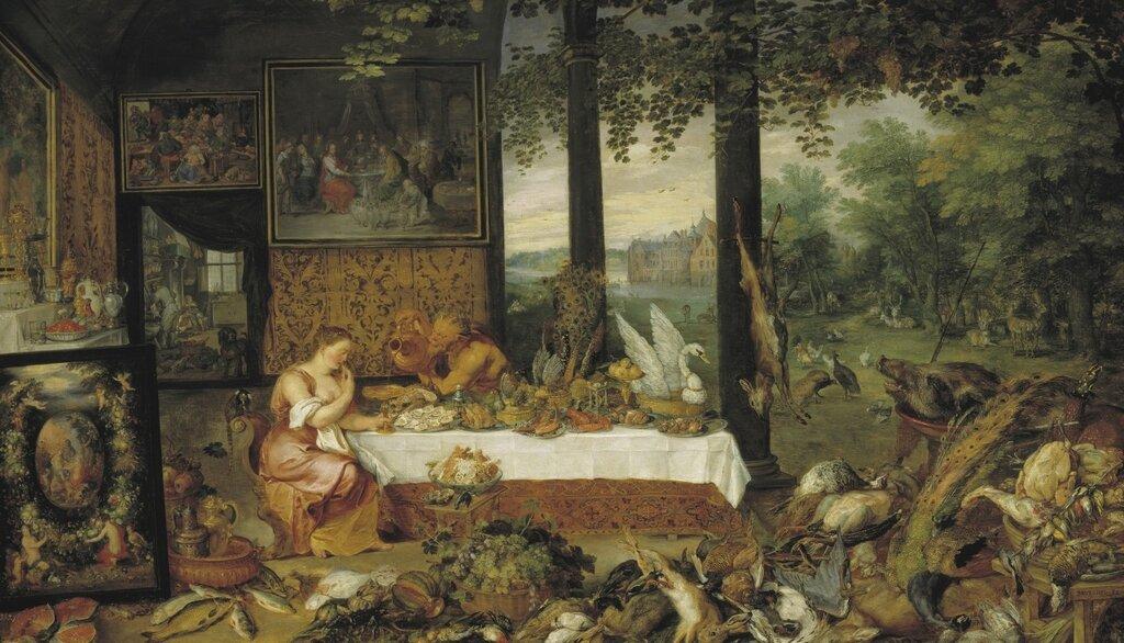 Аллегория пяти чувств. Вкус (совместно с Яном Брейгелем Старшим) (1618) (Мадрид, Прадо).jpg