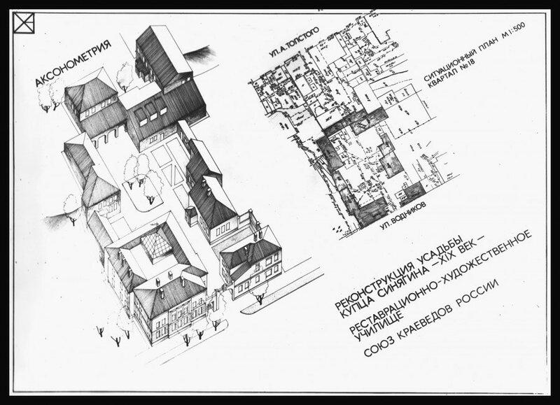 Проект реконструкции усадьбы купца Синягина