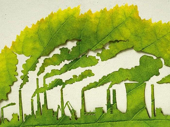 Всемирный день охраны окружающей среды. Рисунок на листочке