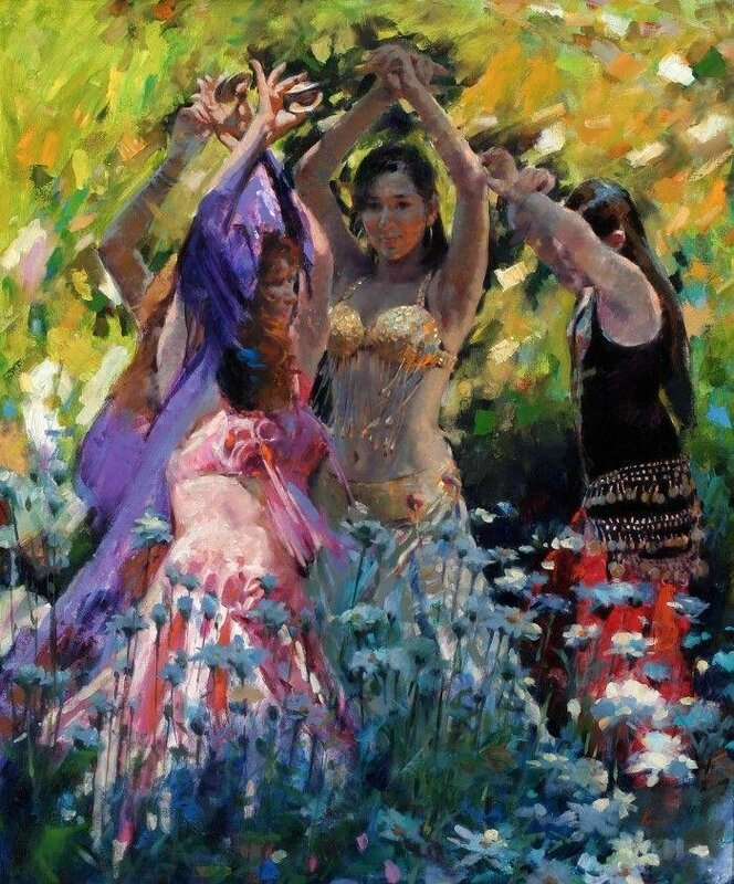 Красивая смесь импрессионизма с реализмом   художник Клемент Кван