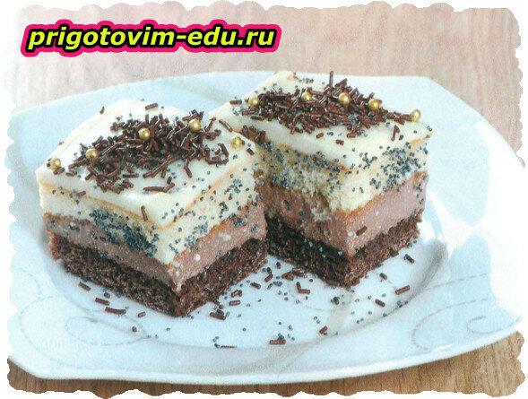 Маковые пирожные в шоколаде