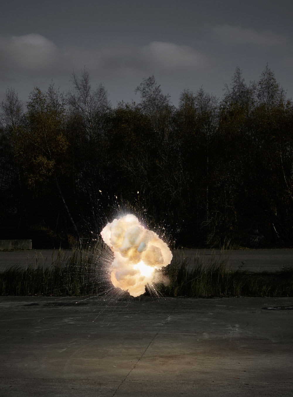 Cloud-Like Explosions Photographed in Midair by Ken Hermann