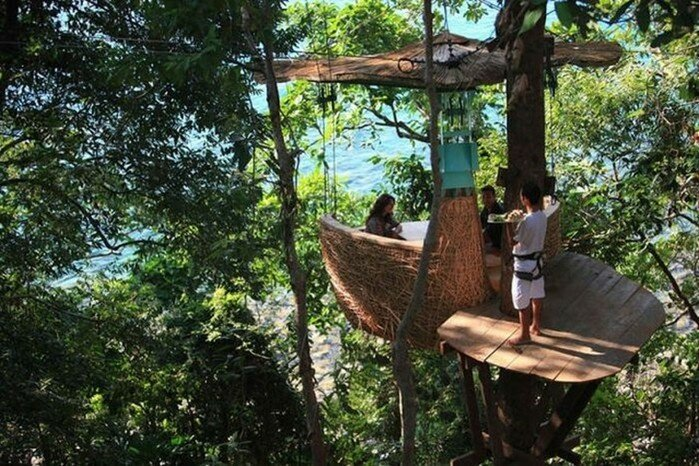 Soneva Kiri   ресторан на вершине дерева в Таиланде
