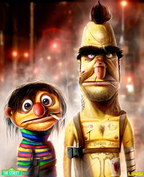 Popped Culture - 20 personnages cultes mis a mal par l'illustrateur Dan Luvisi…